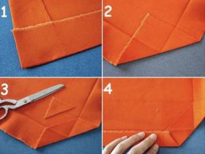 5 servilleta1 Cómo hacer servilletas de vichy Servilletas de vichy