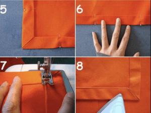 5 servilleta2 Cómo hacer servilletas de vichy Servilletas de vichy