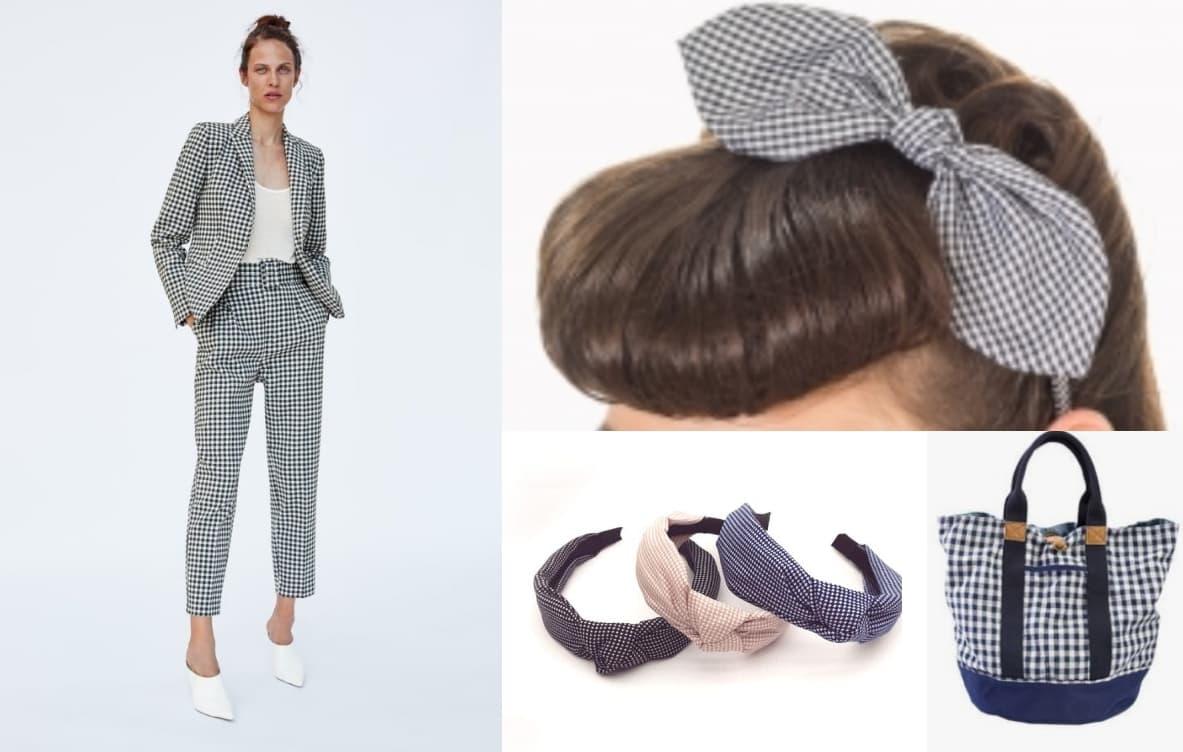 complementos vichy Todo sobre los complementos y las telas Vichy en verano. ¡Complementa tu outfit!