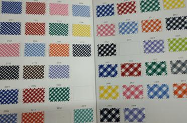 muestrario telas vichy Telas vichy colores Textil Balsareny Telas Vichy Colores: todas las tonalidades de este tipo de tejidos